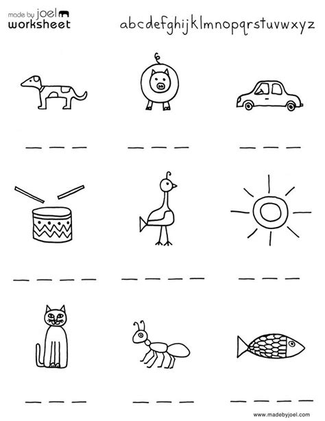 images  abc preschool worksheets spelling