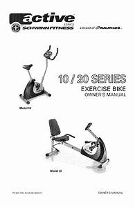 Schwinn Exercise Bike 20 User Guide