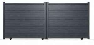Portail Aluminium Pas Cher : portail coulissant pas cher brico depot ~ Melissatoandfro.com Idées de Décoration