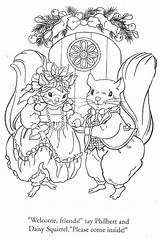 Pages Coloring Colouring Friends Christmas Squirrel Journey Animal Julie Sandy Visiting Wildlife Squirrels Books Digi Stamps Cheeks Flower Arrangements Adult sketch template