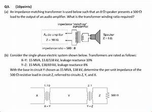 Solved  An Impedance