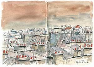 Février 2014 les Toits de Paris Aquarelles et Dessins d'Yves Damin, artiste illustrateur