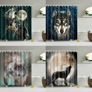 Wolf Bathroom Accessories by Animals Wolf Bathroom Shower Curtain Washable Fabric With