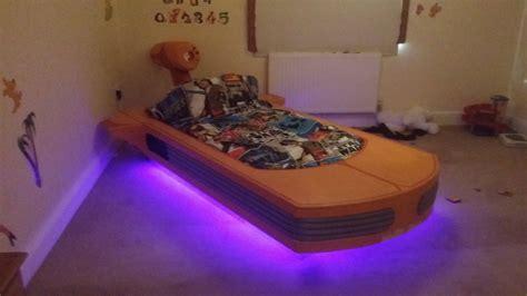 coolest dad builds floating star wars bed platform beds  blog