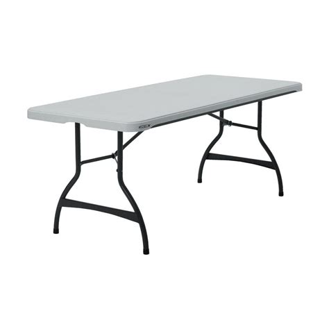 cosco commercial heavy duty 8 ft folding table with built