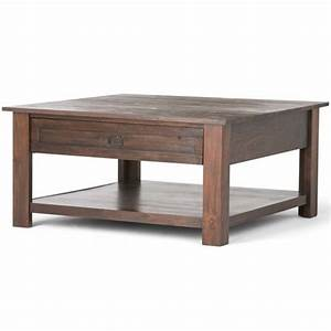 Monroe square coffee table distressed charcoal brown for 46 inch square coffee table
