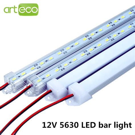 2pcs lot dc12v 5630 led bar light 5630 with pc cover 50cm