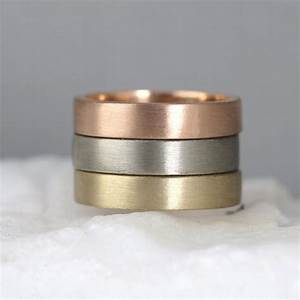 matte texture 4mm 14k gold wedding band pink yellow or With matte wedding ring mens