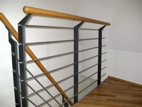 Treppengeländer Innen Holz Weiß by Treppengel 228 Nder Innen Kirchberger Metallbau