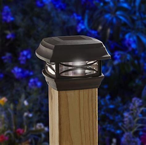 moonrays 91253 solar powered post cap led light for 4x4