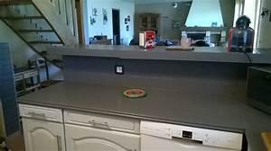 peindre le carrelage cuisine mur et plan de travail With peindre plan de travail carrele cuisine
