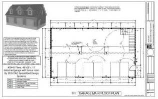 garage floor plans free house plan with detached garage house design