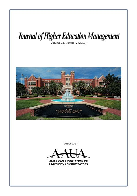 journal  higher education management