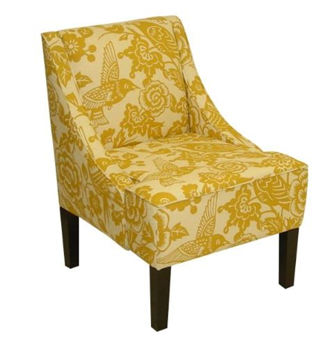 Yellow Swoop Arm Accent Chair by Yellow Accent Chair Memes