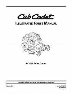 Cub Cadet Parts Manual Model No  Rzt 54