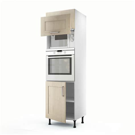 meuble cuisine colonne four meuble de cuisine colonne blanc 3 portes ines h 200 x l 60