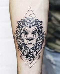 Signification Animaux Tatouage : 1001 id es en photos de tatouage lion inspirez vous de l 39 art des tatoueurs tatouage avec ~ Dode.kayakingforconservation.com Idées de Décoration