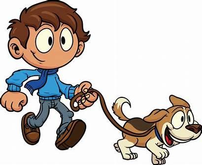 Clipart Dogs Walking Clip Kid Clipartix