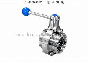 Din    Sms    Rjt Manual Sanitary Butterfly Valve Thread End