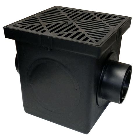 nds 9 in x 9 in black catch basin 2 opening kit 900bkit