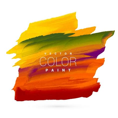 bright colorful paint stain vector design vector free