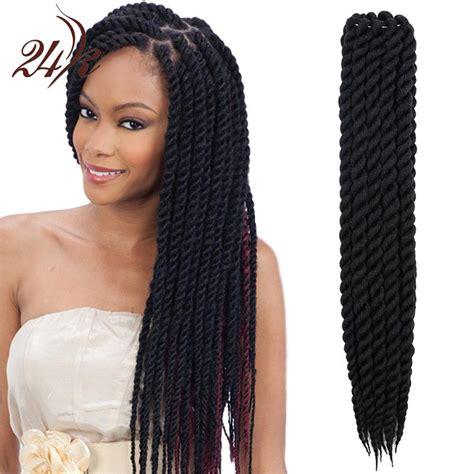 Hot Sell Havana Mambo Twist Crochet Braids Hair 22 Inch Senegalese Synthetic Crochet Twist Jumbo ...