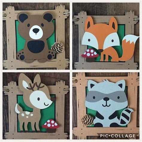 woodland critters animal baby shower banner fox banner