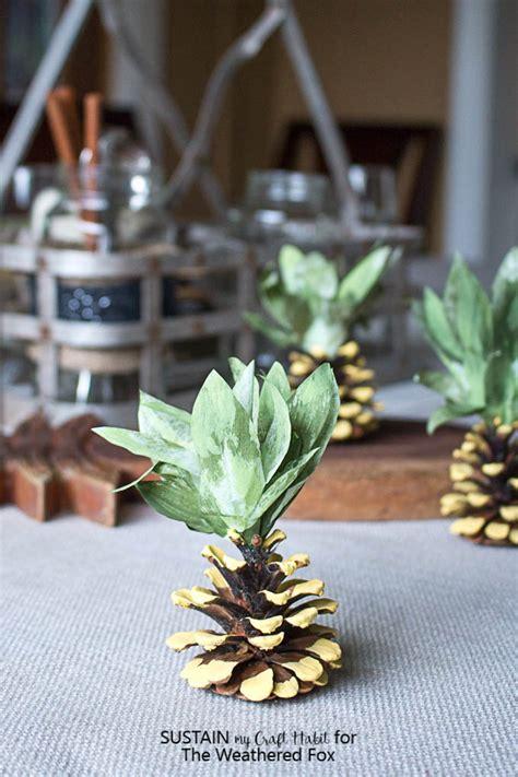 clean pine cones  crafts sustain  craft habit
