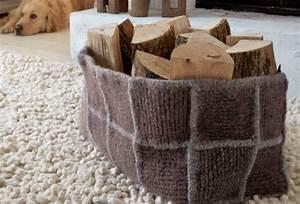 Teppich Filzen Anleitung : kaminholzkorb aus filz zuhausewohnen ~ Lizthompson.info Haus und Dekorationen