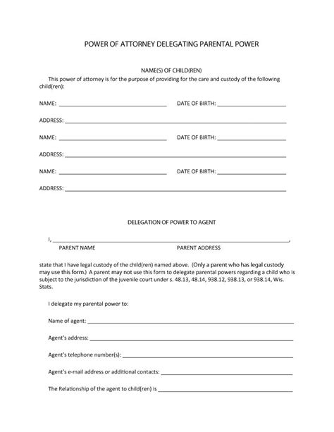 power  attorney forms templates durable medical