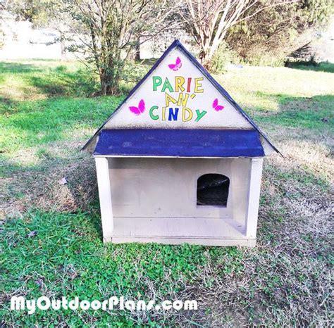 Diy Outdoor Cat House  Myoutdoorplans  Free Woodworking