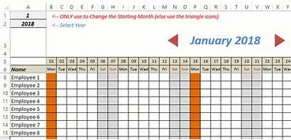 Excel Tracker Template Vacation Leave Calendar Templates