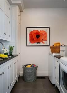 Galley Laundry Room - Transitional - laundry room - Crisp