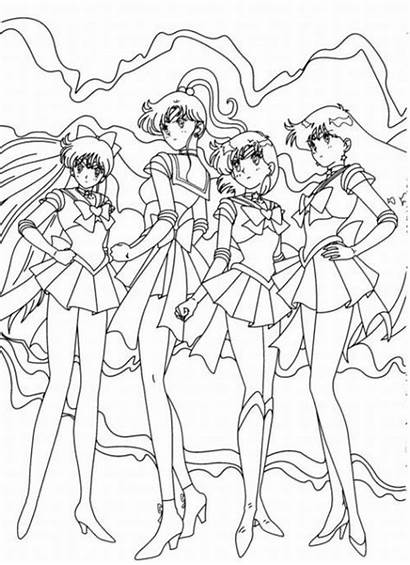 Sailor Moon Coloring Pages Printable Characters Cartoon
