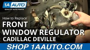 How To Install Replace Power Window Motor Front Cadillac