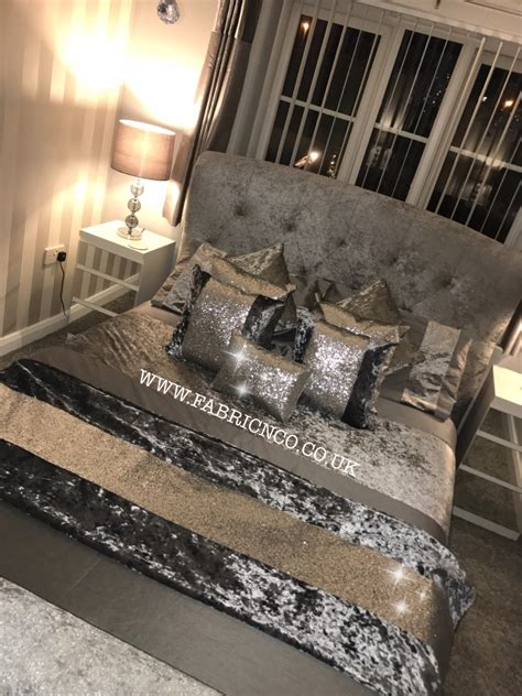 purple table runners crushed velvet glitter bed runner fabric n co