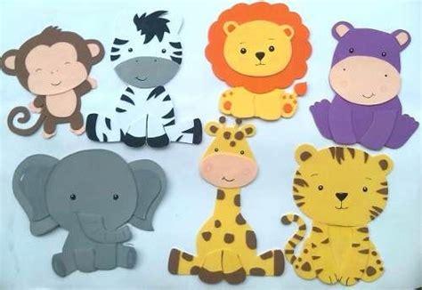 figuras en foami animales de la selva o safari baby shower patrones animales