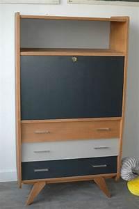 Bureau Secretaire Vintage : commode secretaire vintage ~ Teatrodelosmanantiales.com Idées de Décoration
