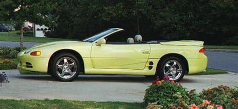mitsubishi 3000gt yellow 1995 mitsubishi 3000gt yellow spyder sl