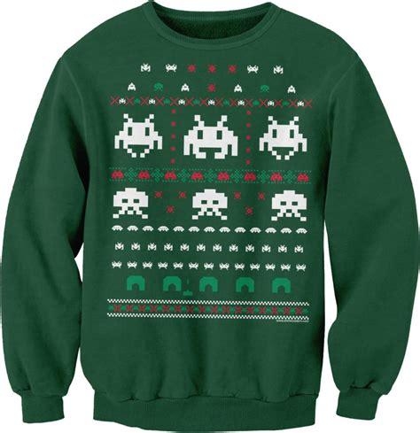 space invaders ugly christmas sweater sweatshirt technabob