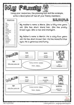 family writing project  funny  valerie tpt