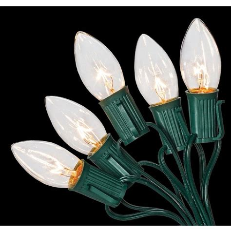 home accents holiday c9 25 light clear color incandescent