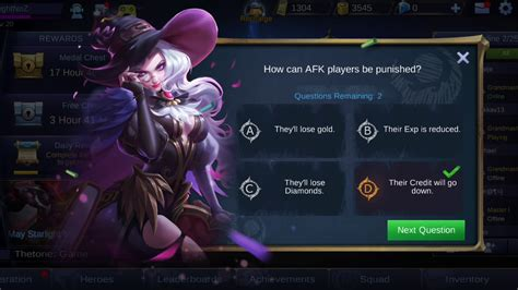 Mobile Legends Bang Bang (quiz Answers )