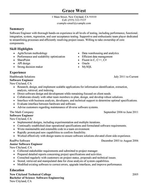 What Is The Best Resume Writing Software by 25 Best Ideas About Resume Exles On Resume
