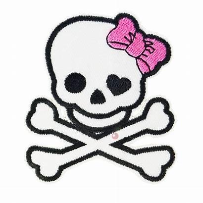 Girly Skull Skulls Clipart Crossbones Cliparts Rockabilly