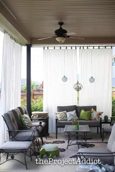 How To Make Your Own Diy Outdoor Curtains And Secure Them
