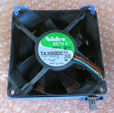 nidec ta350dc fan nidec betav ta350dc sever cpu fan 12v 1 8a for