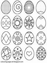 Easter Egg Coloring Eggs Colouring Pages Printable Sheet Colour Symbol Sheets Outline Designs Multiple Abstract Blank Drawing Drawings Line Per sketch template