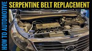 How To Replace The Serpentine Belt On A Kia Sportage With