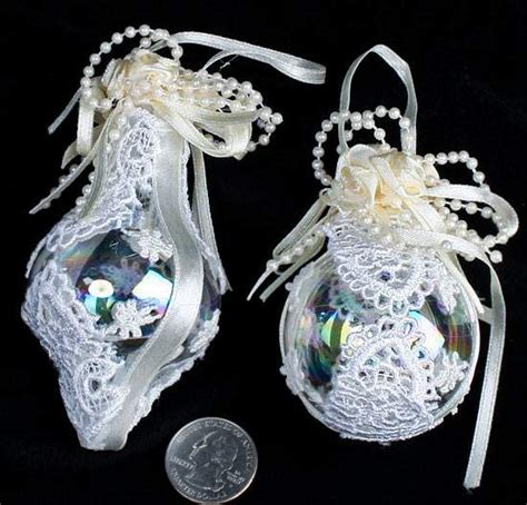victorian lace glass ornaments christmas ornaments